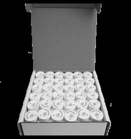 Isabob Canettes de fils blanc 125vg boite de 144 unités