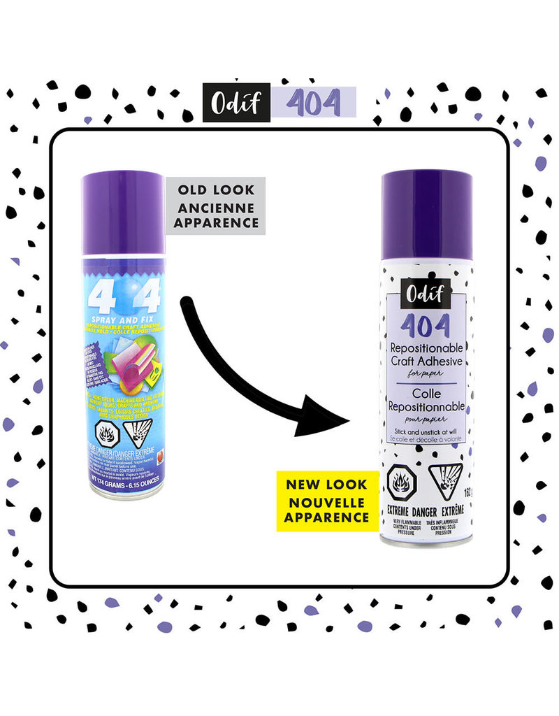 Odif ODIF 404 Spray and Fix Permanent Repositionable Adhesive for Craft Material - 162g