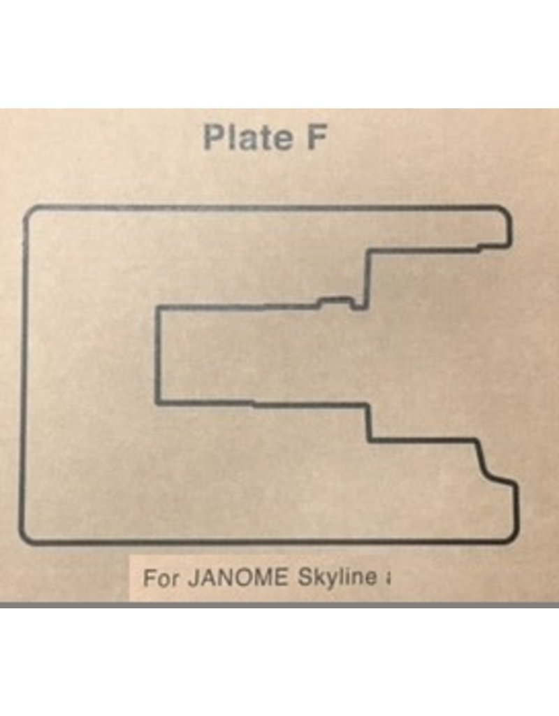"""Janome Sewing Table Insert """"F"""" Skline S3/5/7/9"""