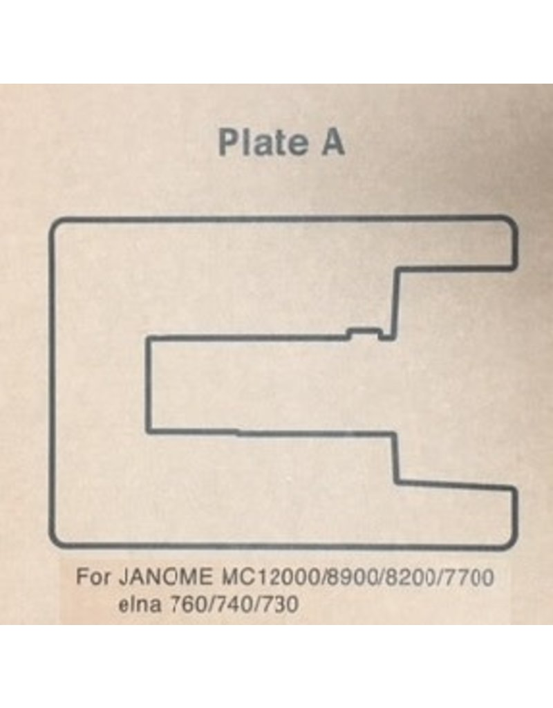 """Janome Sewing Table Insert """"A"""" MC7700 to MC12000"""