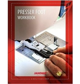 Janome Work book for presser feet anglais seulement