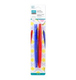 Unique Crayon à tissue effeçable - bleu et rouge - 2 mcx