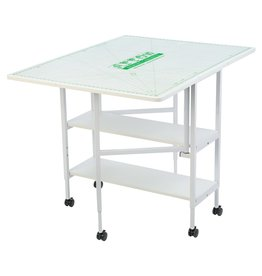 Arrow Table de coupe Dixie avec pattes en acier blanc