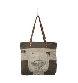 Myra Bags S-0897 Adventure Begins Canvas Tote