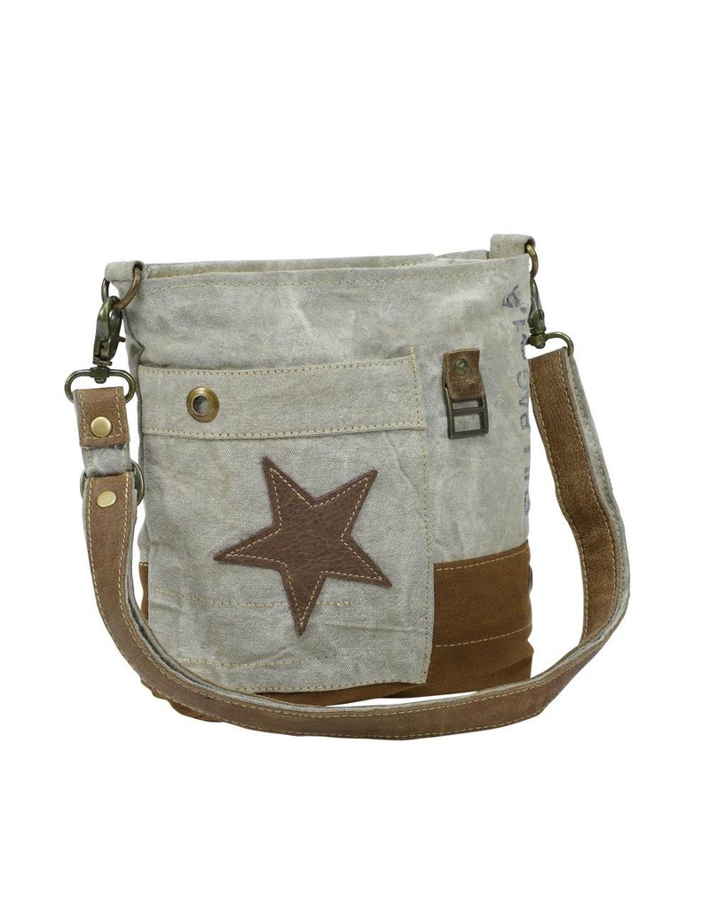 Myra Bags S-0898 Leather Star Crossbody