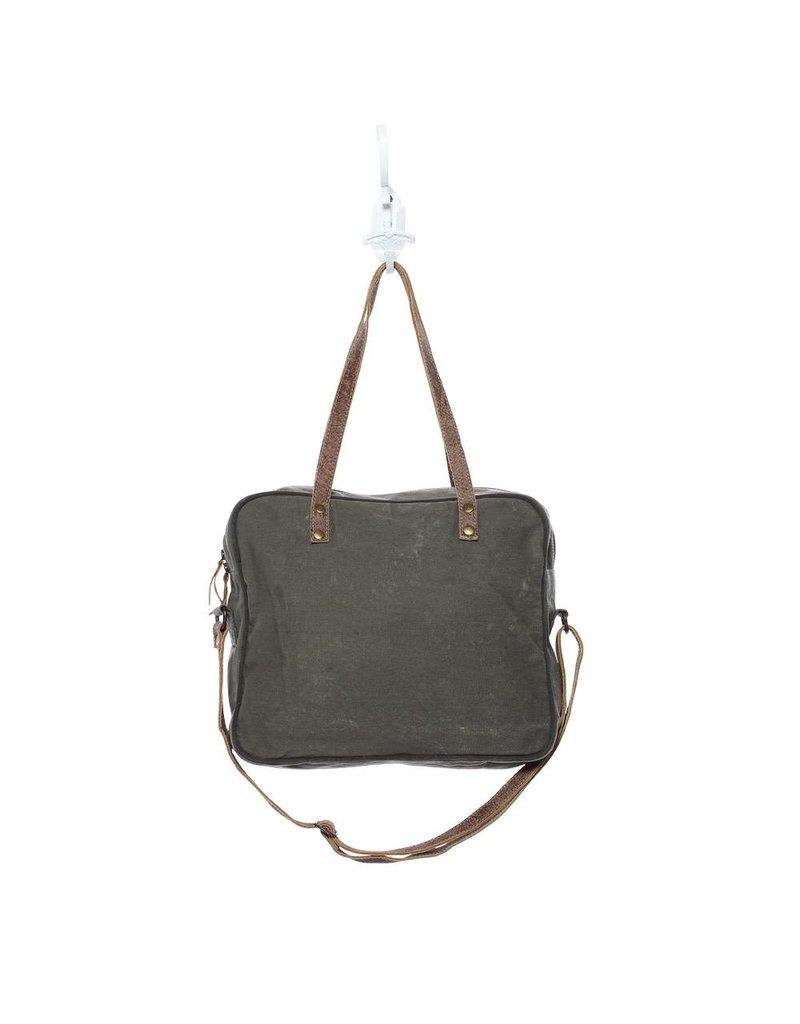 Myra Bags S-1131 Bycycle Print Messenger Bag