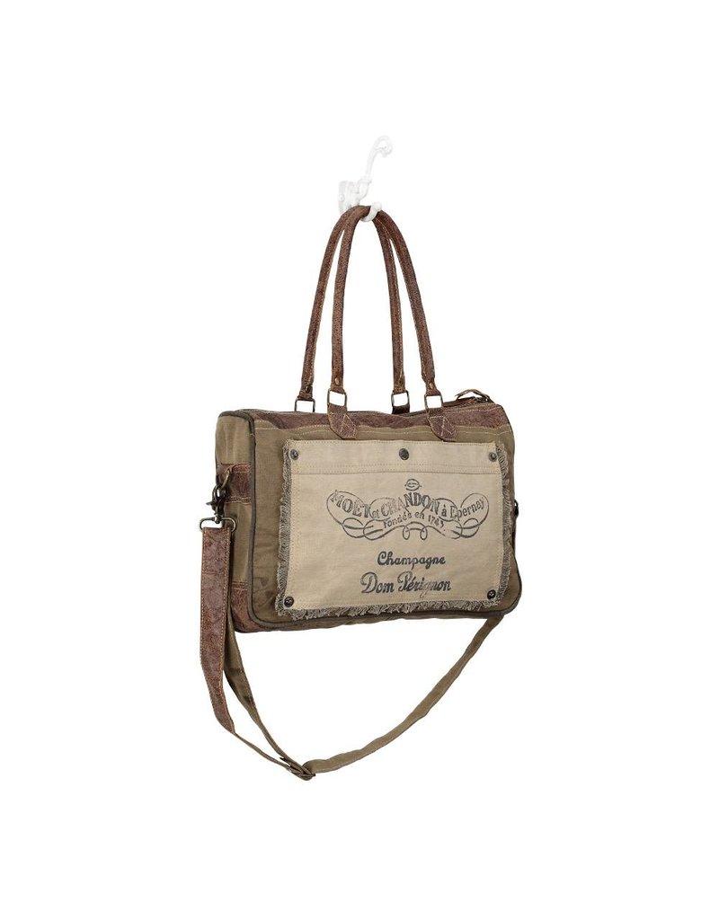 Myra Bags S-0903 Champagne Messenger Bag
