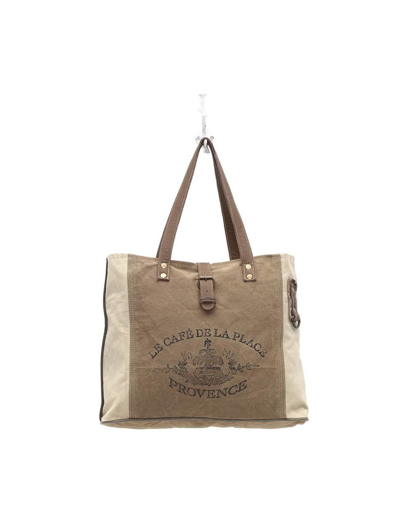 Myra Bags S-0939 Provence Canvas Tote