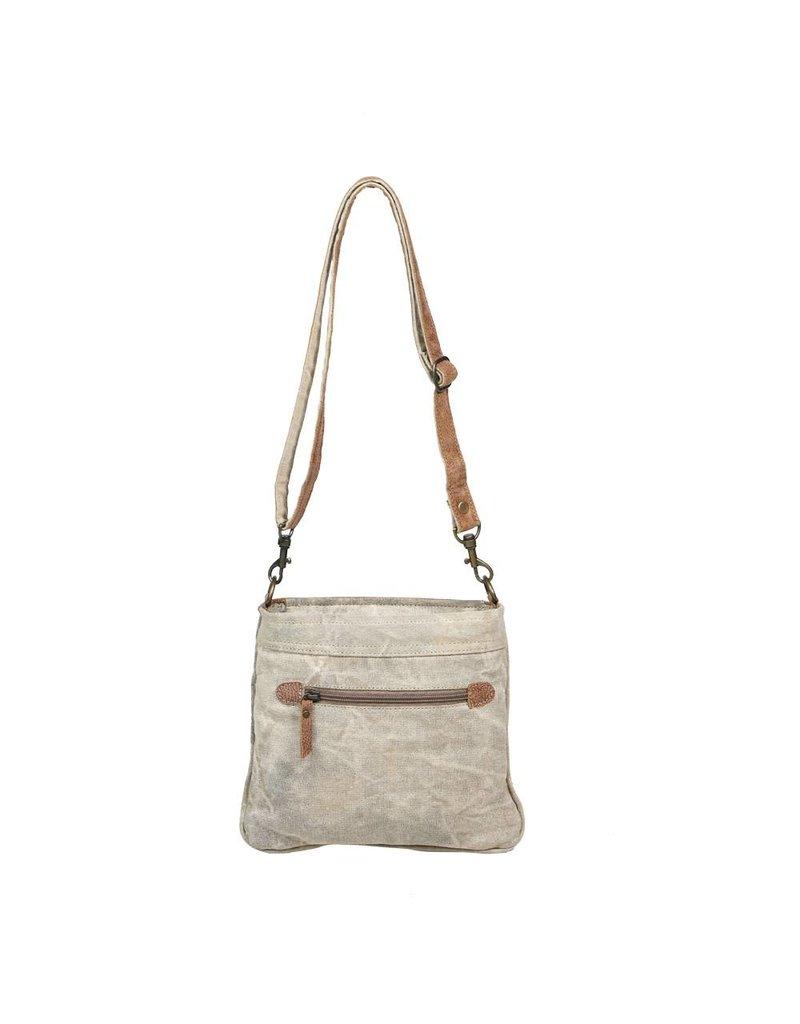 Myra Bags S-1202 Hide & Floral Print Crossbody