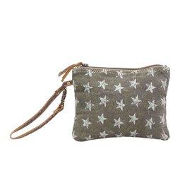0e216def444b Myra Bags S-0784 Star-Grouped Wristlet