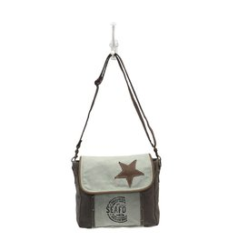 Myra Bags S-0946 Star On Canvas Bag