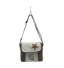 S-0946 Star On Canvas Bag
