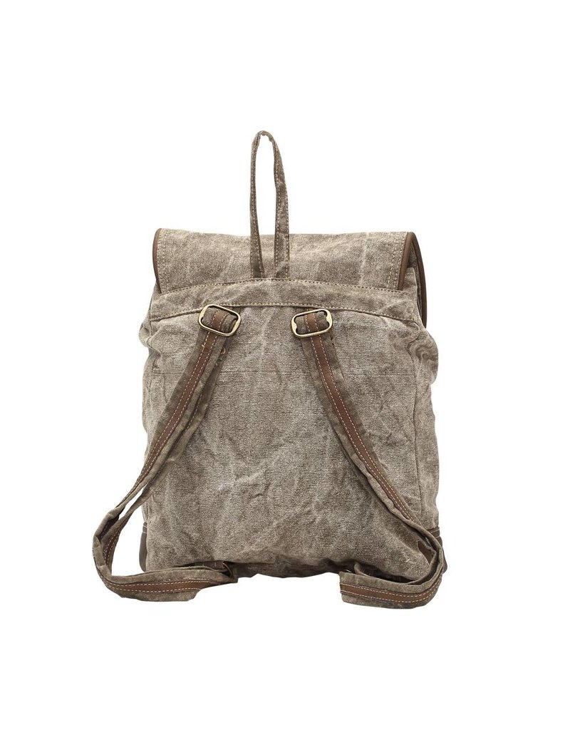 Myra Bags S-1004 Leather Pocket Backpack
