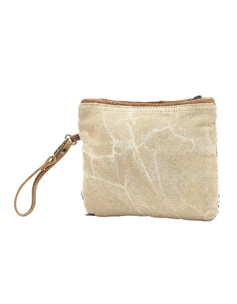 Myra Bags S-1015 Hide-Segmented Wristlet