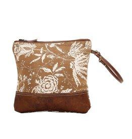 Myra Bags S-1024 Rose Print Wristlet