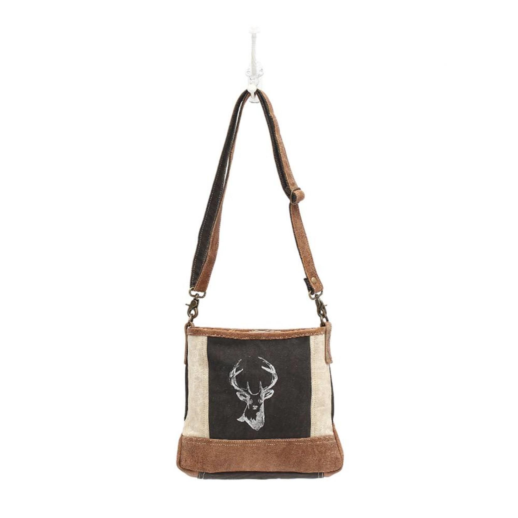 Myra Bags S-1033 Reindeer Print Crossbody