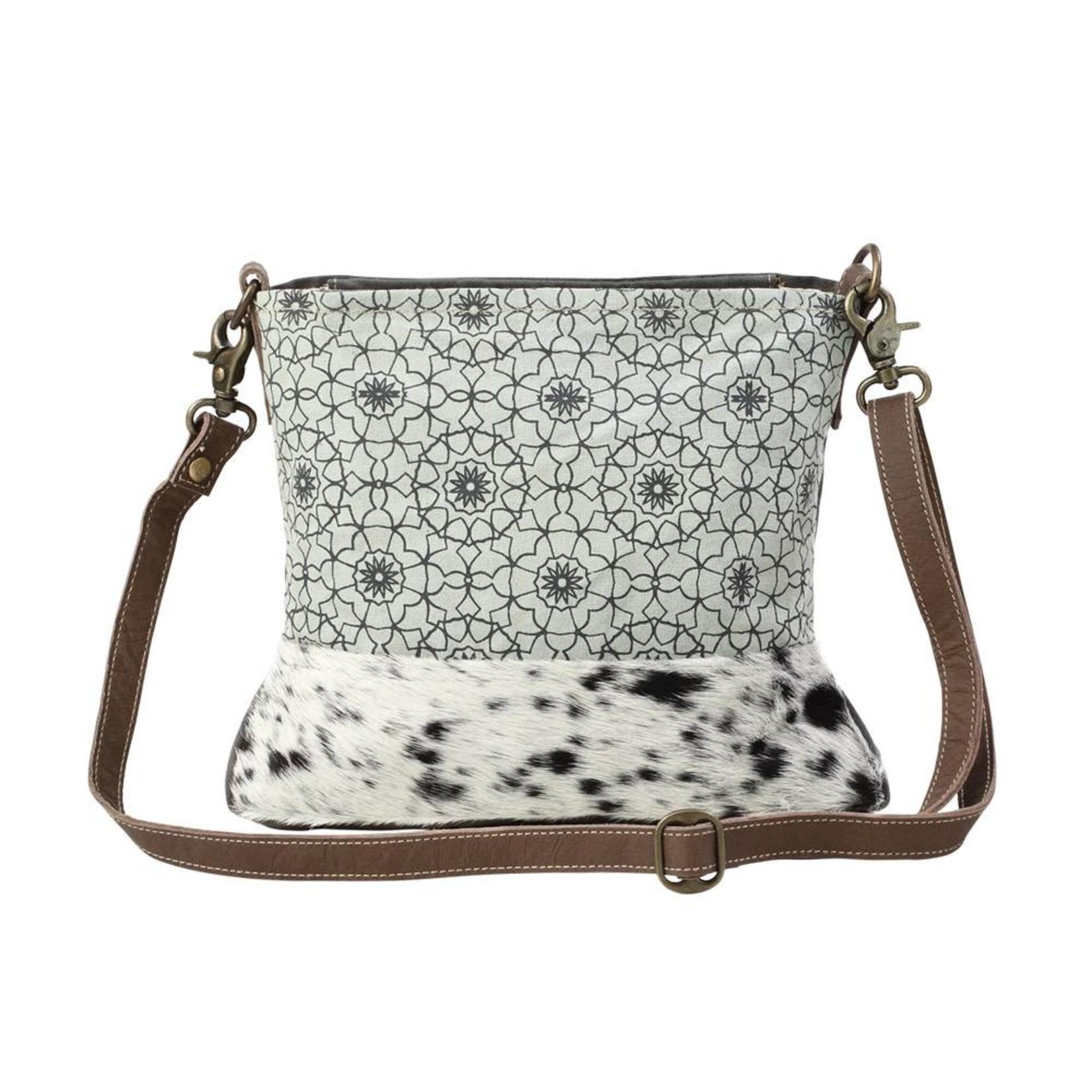 Myra Bags S-1196 Green Floral Print Bag