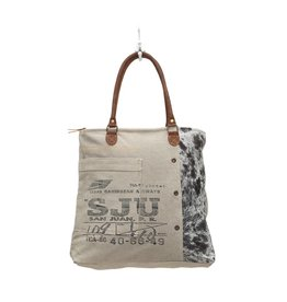 30874edbc78d Myra Bags S-0705 Segmented Canvas Tote