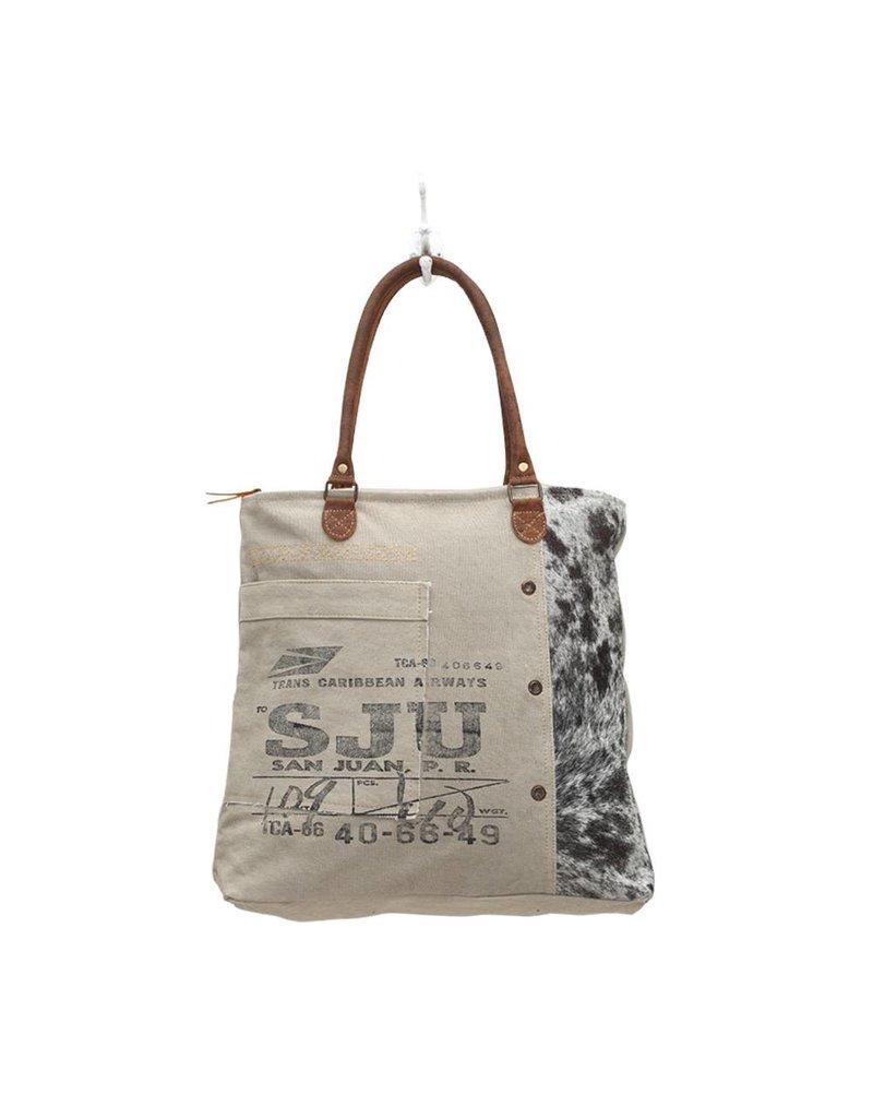 Myra Bags S-0705 Segmented Canvas Tote