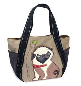 Chala Carryall Zip Tote Pug