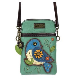 Chala Cell Phone Crossbody Blue Bird
