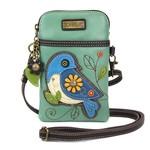 Chala Cell Phone Crossbody Blue Bird