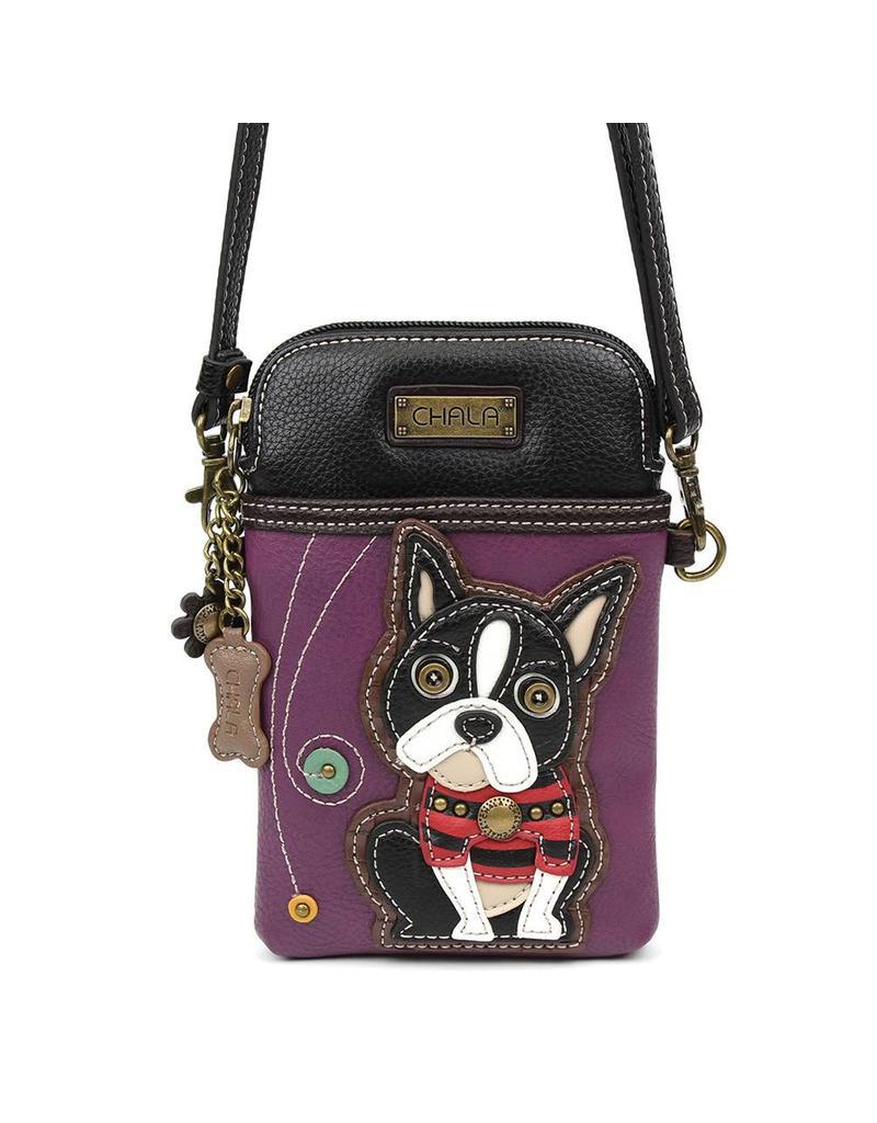 Chala Cell Phone Crossbody Boston Terrier