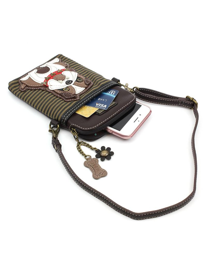 Chala Cell Phone Crossbody Bulldog Stripe