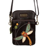 Chala Cell Phone Crossbody Dragonfly Black