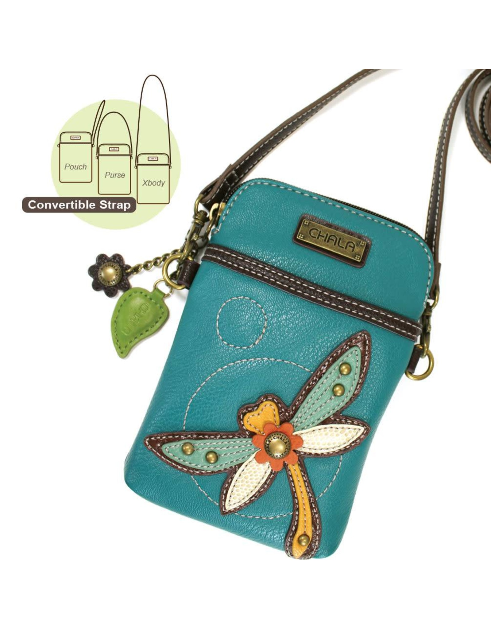 9 Color options Chala Crossbody with Charming Dragonfly Keychain