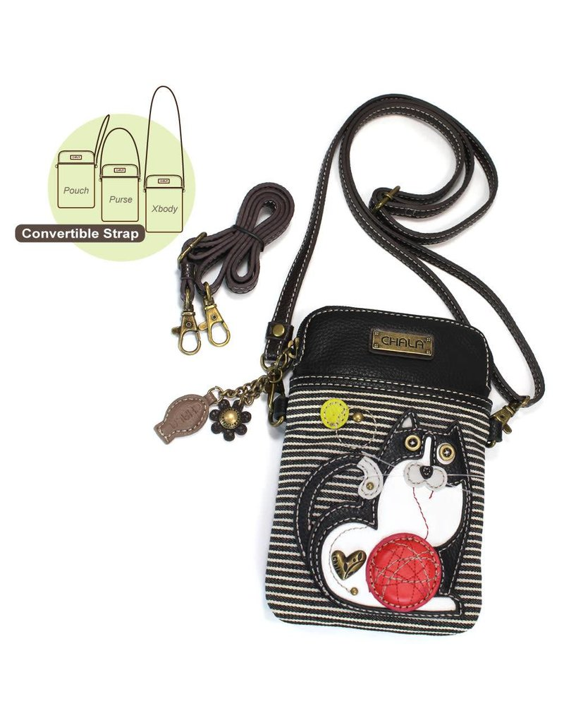 Chala Cell Phone Crossbody Fat Cat Stripe