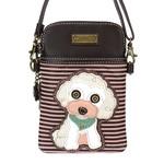 Chala Cell Phone Crossbody Poodle Stripe