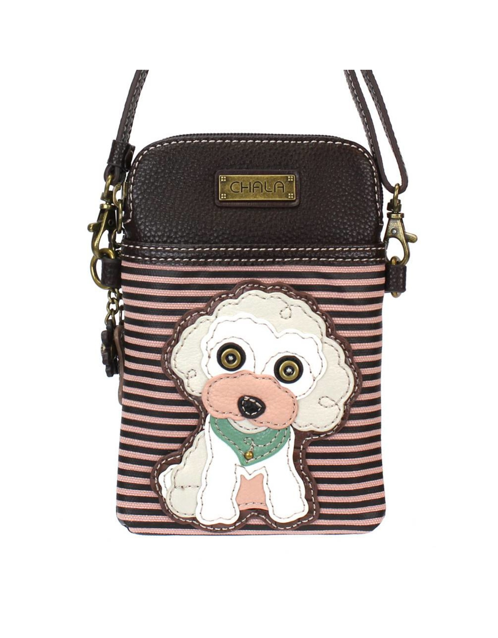 Chala Cell Phone Crossbody Poodle Stripe