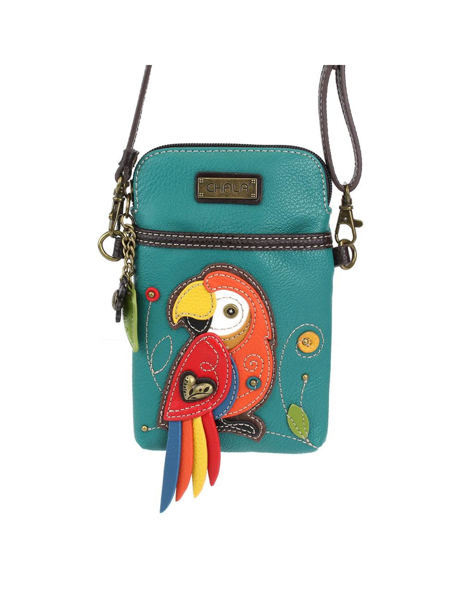 Chala Cell Phone Crossbody Red Parrot