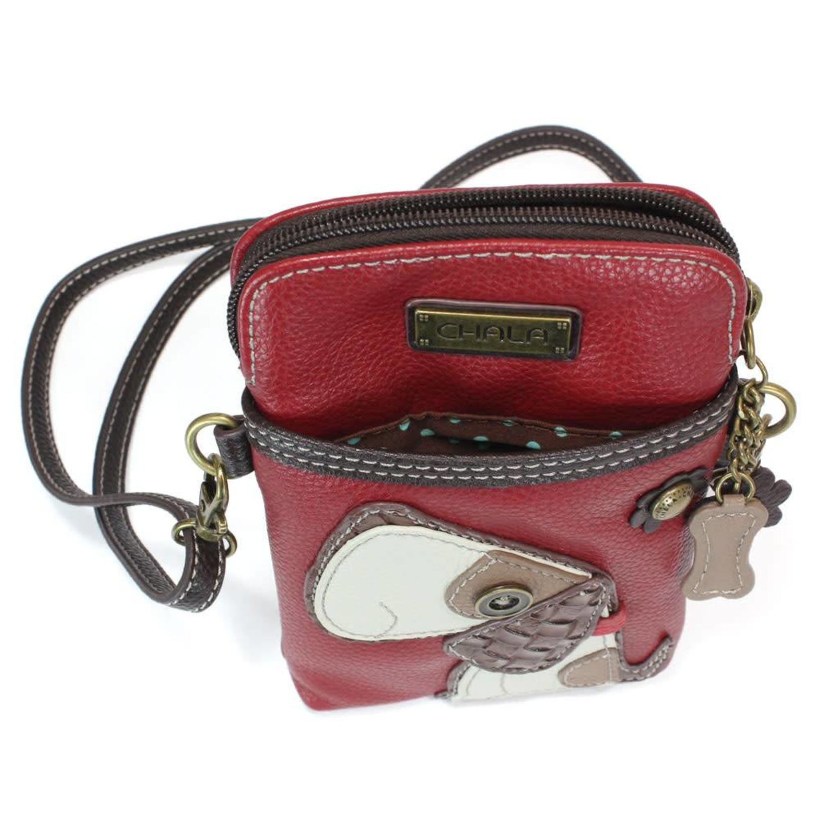 Chala Cell Phone Crossbody Toffy Dog
