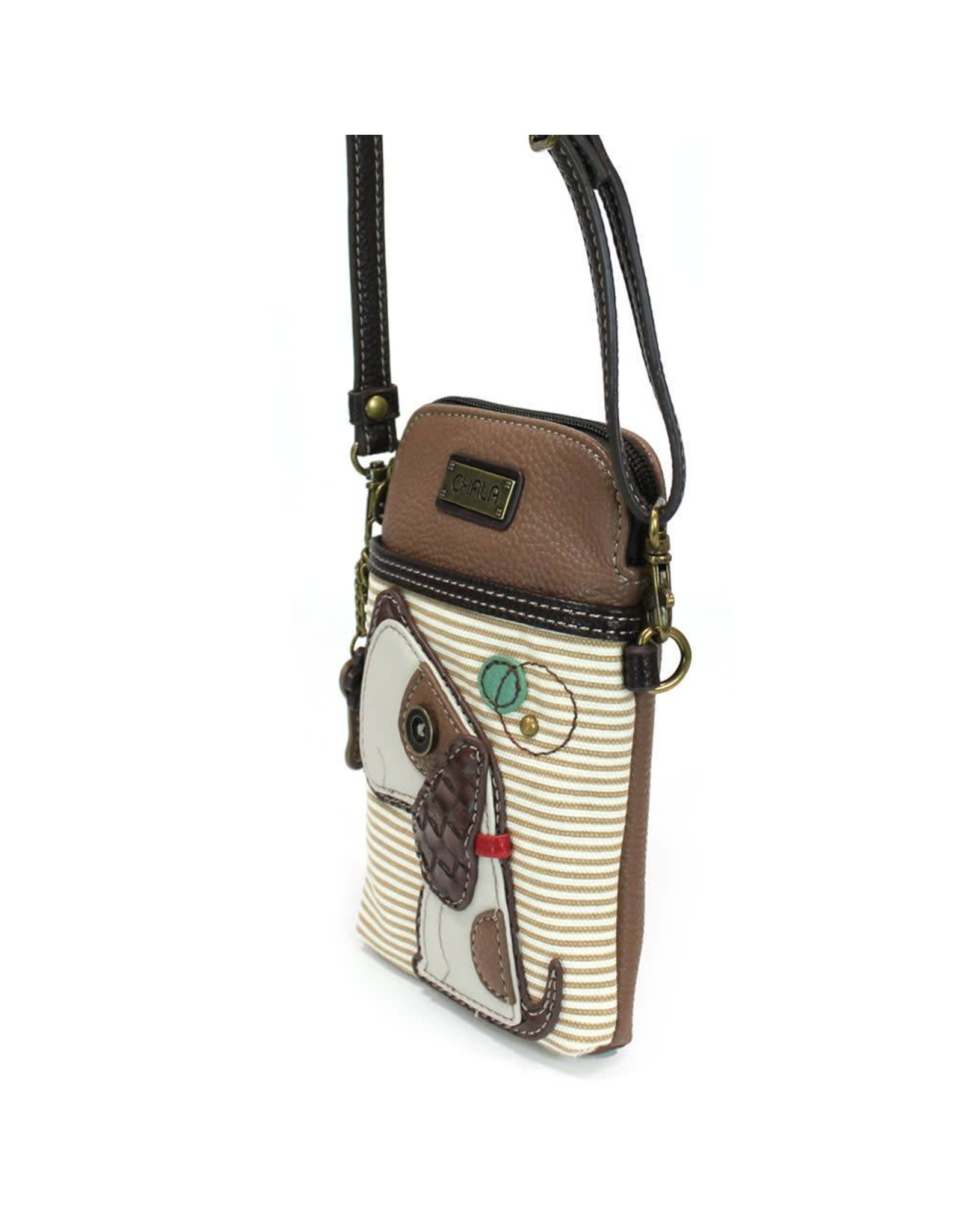 Chala Cell Phone Crossbody Toffy Dog Stripe