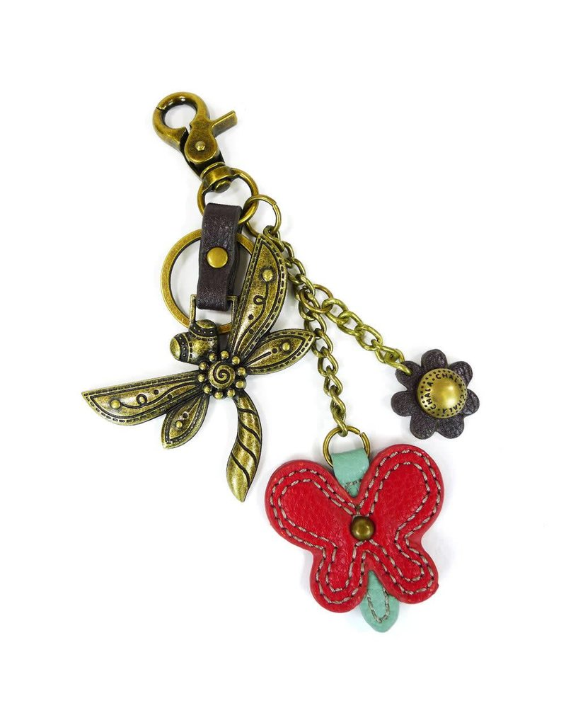 Chala Charming Key Chain Dragonfly Butterfly