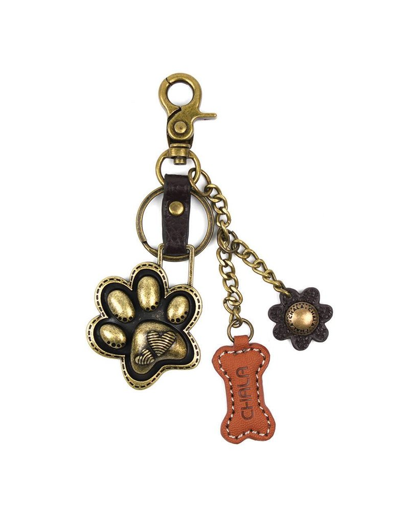 Chala Charming Key Chain Paw Print