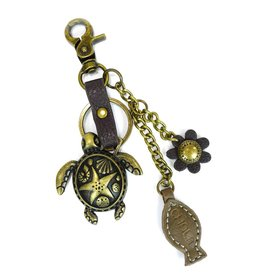 Chala Charming Key Chain Turtle Fish