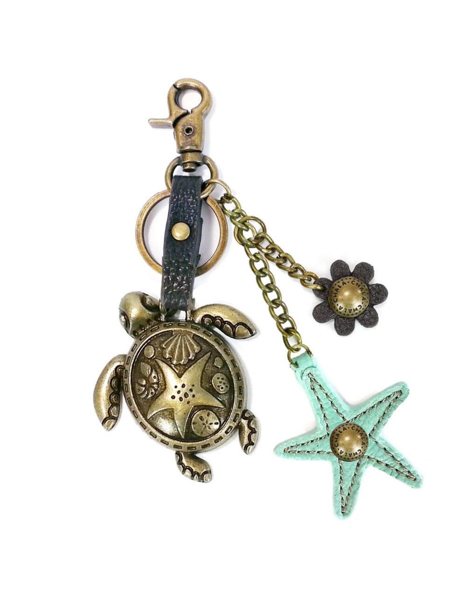 Chala Charming Key Chain Turtle Starfish