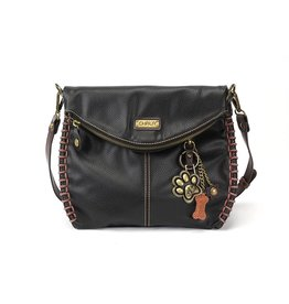 Chala Charming Crossbody - Black - Paw Print