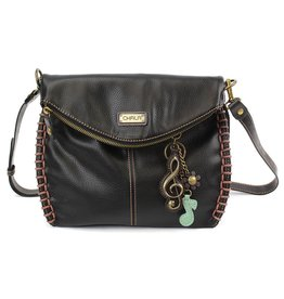 Chala Charming Crossbody - Black - Treble Clef