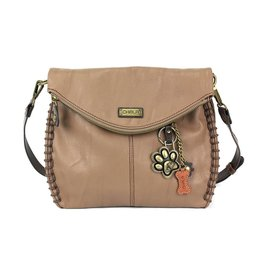 Chala Charming Crossbody - Brown - Paw Print