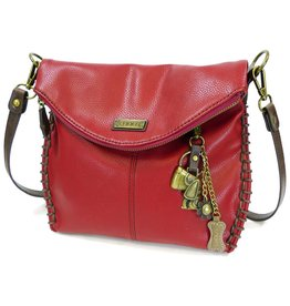 Chala Charming Crossbody - Burgundy - Dog