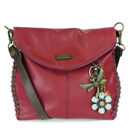 Chala Charming Crossbody - Burgundy - Dragonfly