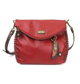 Chala Charming Crossbody - Burgundy - Feather