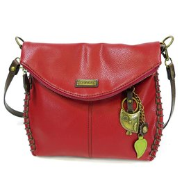 Chala Charming Crossbody - Burgundy - Owl
