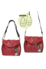 Chala Charming Crossbody - Burgundy - Sea Turtle