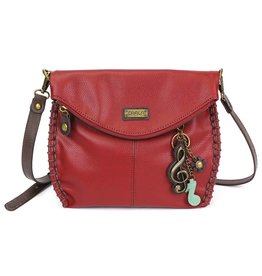 Chala Charming Crossbody - Burgundy - Treble Clef