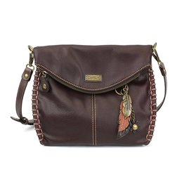 Chala Charming Crossbody - Dark Brown - Feather